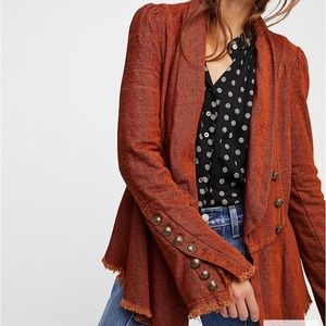 NWOT Free People flair sleeve jacket